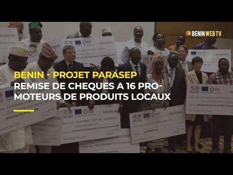 Bénin : remise de chèques de subvention à 16 promoteurs de produits locaux par le Projet PARASEP
