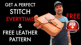Leather Stitching Tutorial With FREE Pouch Pattern