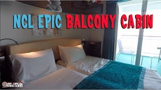 Cruise Cabin Tour - NCL Epic Balcony Cabin