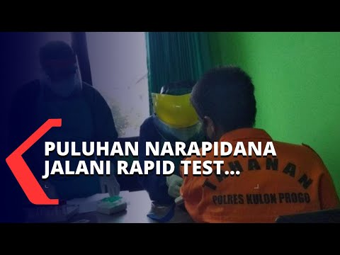 pandemi corona puluhan narapidana jalani rapid test