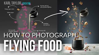 How To Photograph Flying Food Images