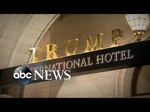 Lawsuit claims Trump is using his position to market his business