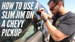 How to use a Slim Jim on a Chevy Silverado / Unlock a Car door