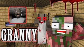 Monster School: Granny Horror Challenge - Minecraft Animation