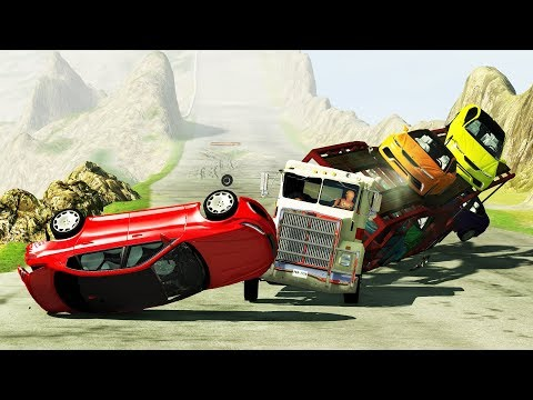 BeamNG DRIVE - Delivery Service Crashes & Fails