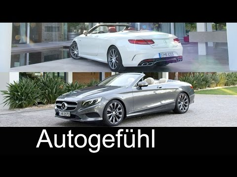 All-new Mercedes S-Class Convertible S500 & Mercedes-AMG S63 S-Klasse Cabriolet Exterior/Interior