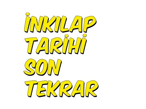 5dk'da İNKILAP TARİHİ SON TEKRAR 3
