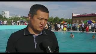 Экибастуз  Новости  В парке культуры и отдыха Шахтер состоялось открытие бассейна, рассчитанного на