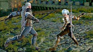 Soul Calibur 6 - Ciri vs Geralt Gameplay (1080p 60fps)