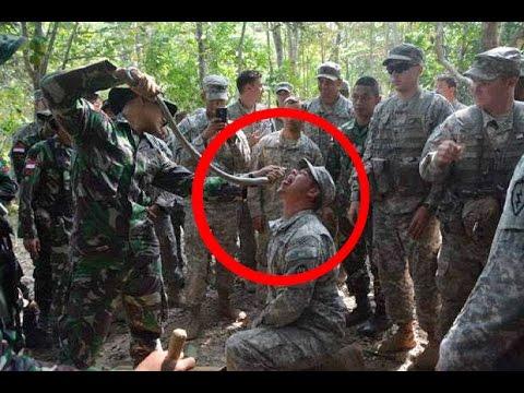Marinir Indonesia Ajari Marinir USA Makan Ular Untuk Bertahan Hidup . Apa Hukumnya Dalam Islam ?