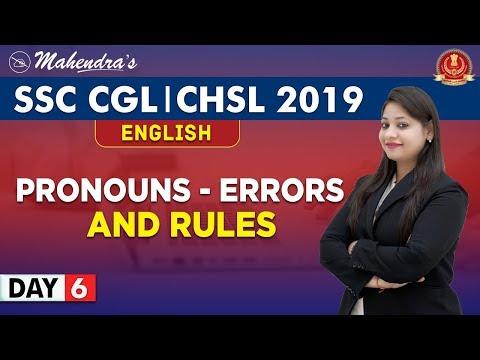 Pronoun | Errors & Rules | English | By Yashi Mahendras | SSC CGL | CHSL | 10:30 am