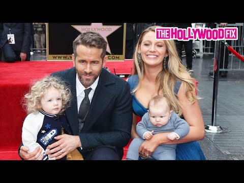 Ryan Reynolds & Blake Lively's Kids Steal The Show At Walk Of Fame Ceremony 12.15.16