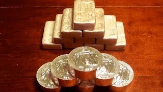 Scottsdale Poured Silver Bars and 5 oz Stacker Rounds Unboxing