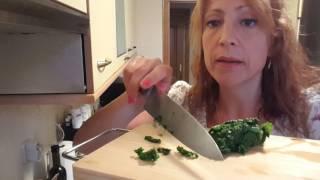 Ensalada escaldada de Kale, chirivía y zanahoria.