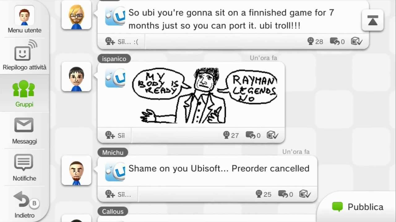 Wii U Owners Freak Out About Rayman Going Multiplatform