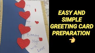 GREETING CARD MAKING IDEA / Simple and Easy Greeting Card Preparation  / DIY #217