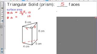 Surface Area and Volume of solid figures 8th Grad