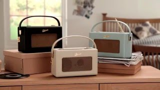 Roberts Portable Radio IStream2 - Cream, Duck Egg Blue & Black - Electrical Europe