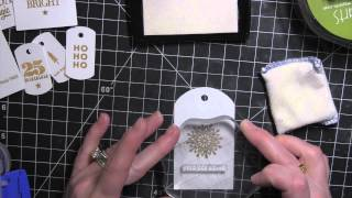 Kerri Bradford Studio | Gold + White Christmas In July Gift Tags