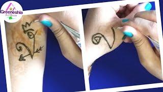 2 Unique V Letter Tattoos   Beautiful V Letter Mehndi Tattoo   Latest V Alphabet Mehndi Tattoo