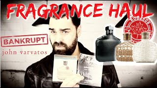 💸🛍 John Varvatos 2020 Haul & Bankruptcy Discussion  | Haul Series 🎁