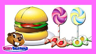 """Junk Food & Sweets"" (Level 2 English Lesson 14) CLIP - English Learning, Learn ESL, Kids Education"