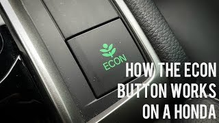 How the Econ Button Works on a Honda | SAVE FUEL | WHITBY OSHAWA HONDA