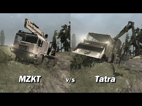 Spintires Mudrunner 8x8 truck Showdown | Tatra vs MZKT