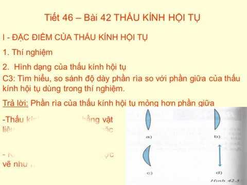VẬT LÍ 9 - BÀI 42: THẤU KÍNH HỘI TỤ