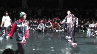 oSaam&BUUBEE vs akihic☆彡 &Wapper FINAL HIPHOP JUSTE DEBOUT JAPAN 2014