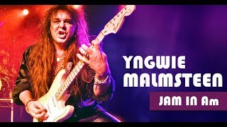 Yngwie Malmsteen Style Neoclassical Rock Ballad Backing Track Jam in Am
