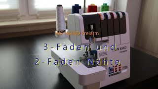 W6 N656D Freiarm   3 Faden Und 2 FadenNähte