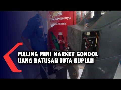Maling Mini Market Gondol Uang Ratusan Juta Rupiah