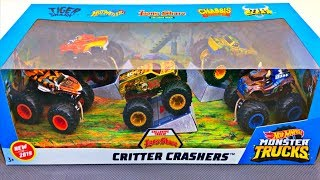 Monster Trucks for Kids | Hot Wheels Critter Crashers Gift Set | Fun & Educational Organic Learning