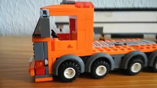 Lego Schwerlasttransporter Mit Begleitfarzeuhg
