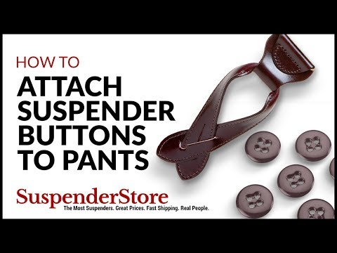 How to Attach Suspender Buttons to Pants