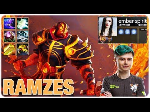 RAMZES Spamming Ember Spirit Dota 2 Pro Full Game Gameplay