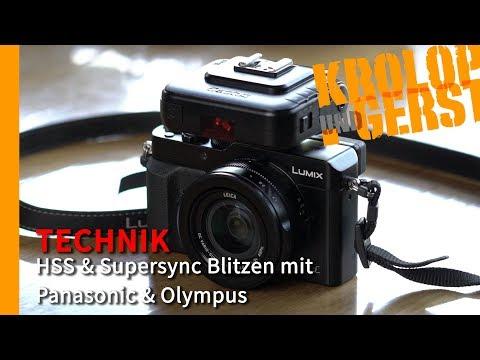 HSS & Supersync Blitzen mit Panasonic & Olympus  📷 TECHNIK 📷 Krolop&Gerst