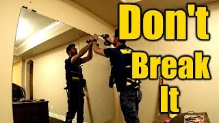 How To Install a Large Mirror | THE HANDYMAN |