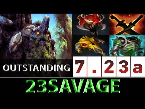 23savage [Tiny] Outstanding Heavy Damage Carry ► Dota 2 7.23a