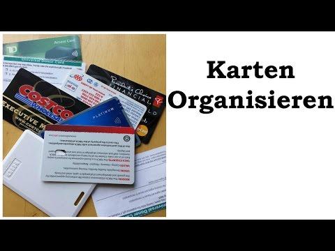 Karten Organisieren - mit einer Visitenkartenmappe