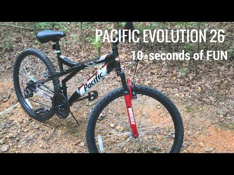 Pacific Evolution 26 Mountain bike from Kmart – 10 seconds on trail! Unboxing