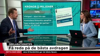 Dags Att Deklarera - Få Reda På De Bästa Avdragen - Nyheterna (TV4)