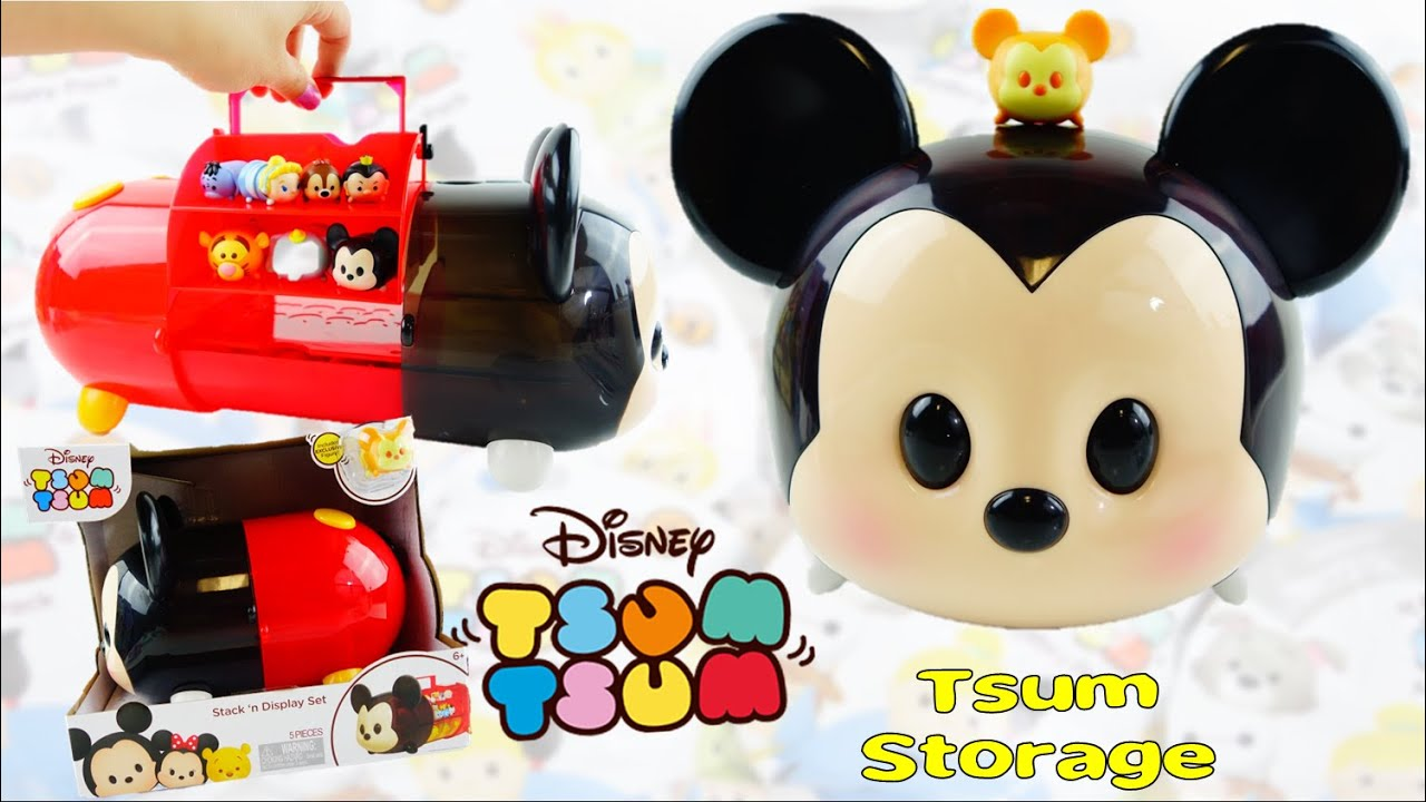 Disney Mickey Tsum Tsum Stack 'n Display Set Collection and Storage Case