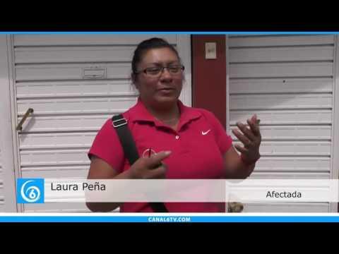 Casas del claustro Araucaria en Santa Bárbara afectadas por aguas negras