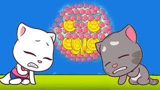 ГОВОРЯЩИЙ кот ТОМ бег ЗА СЛАДОСТЯМИ #2 Игровой мультик про котиков. Talking Tom candy run