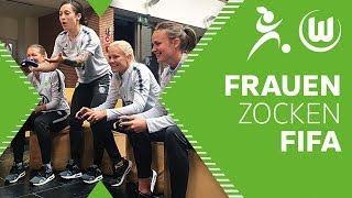 Bundesliga Frauen Zocken FIFA 18 | VfL Wolfsburg Frauen