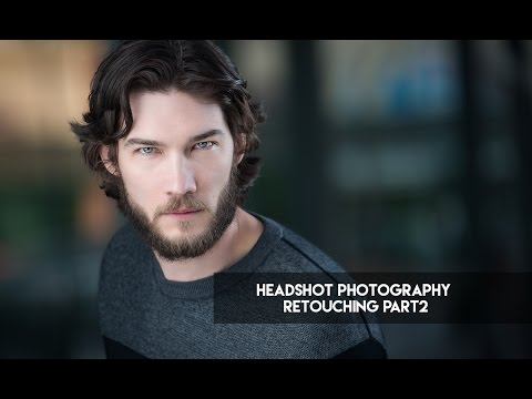 photo retouching tutorial for head shot photography by rafal wegiel