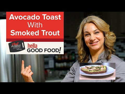 Healthy Avocado Toast with Smoked Trout