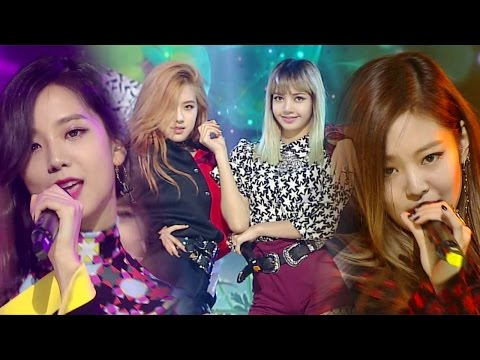 """EXCITING"" BLACKPINK (Black Pink) - WHISTLE (Whistle) @ Popular Inkigayo 20160828"